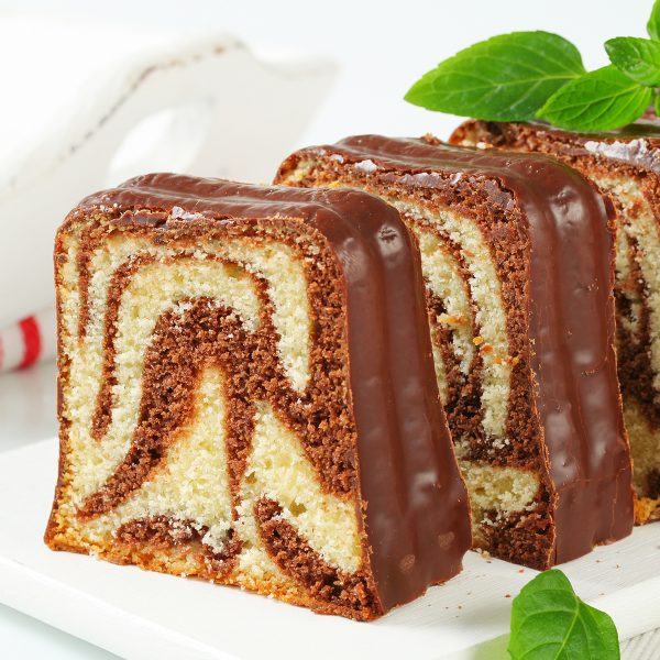 A delicious cake with chocolate
