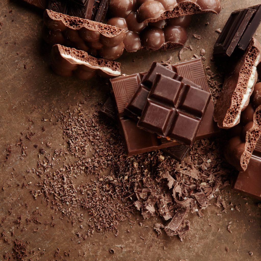 Kawałki z tabliczki czekolady
