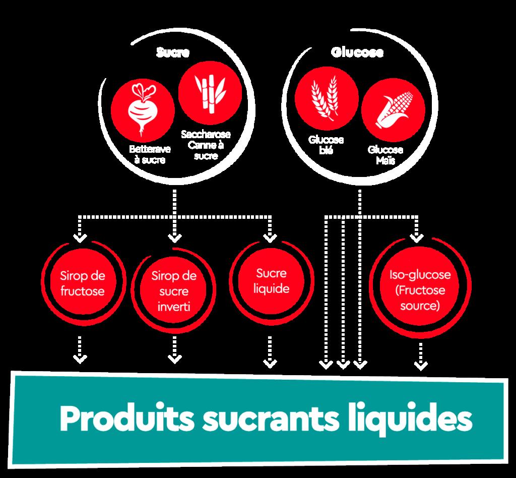 Infographie des produits sucrants liquides Südzucker
